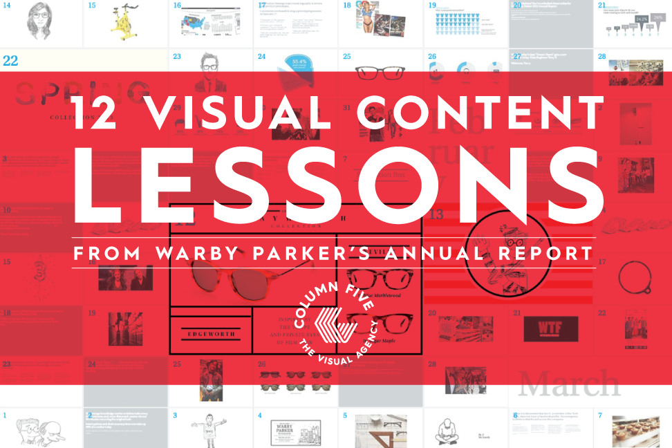 12 Visual Content Lessons From Warby Parker's Annual Report